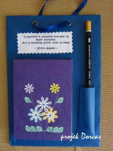 Colorful note pad