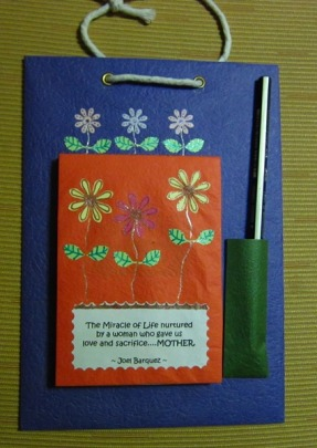 Colorful note pad – 'The Miracle of life', 8.5 x 6 in (RM12)
