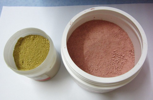 pink+yellow clay